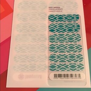 Jamberry wrap- Aqua Modern Diamond